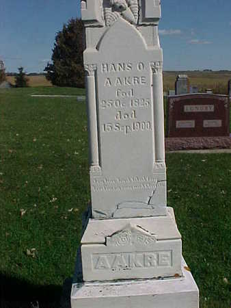 AAKRE, HANS O. - Winneshiek County, Iowa | HANS O. AAKRE