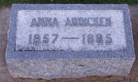 ADDICKEN, ANNA - Winneshiek County, Iowa | ANNA ADDICKEN