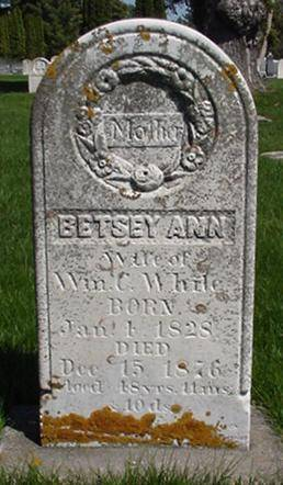 WHITE, BETSEY ANN - Winneshiek County, Iowa | BETSEY ANN WHITE