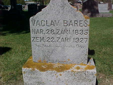 BARES, VACLAV - Winneshiek County, Iowa | VACLAV BARES