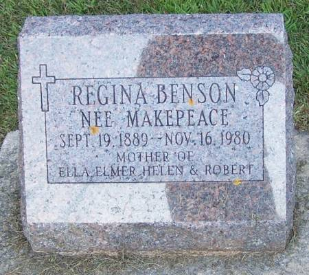 MAKEPEACE BENSON, REGINA - Winneshiek County, Iowa | REGINA MAKEPEACE BENSON