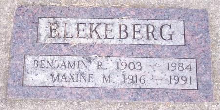 BLEKEBERG, MAXINE M - Winneshiek County, Iowa | MAXINE M BLEKEBERG