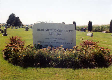 BLOOMFIELD, CEMETERY - Winneshiek County, Iowa | CEMETERY BLOOMFIELD