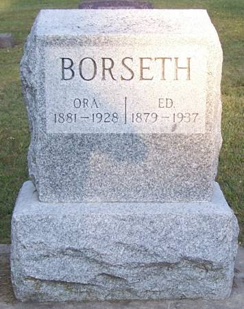 BORSETH, ORA - Winneshiek County, Iowa | ORA BORSETH