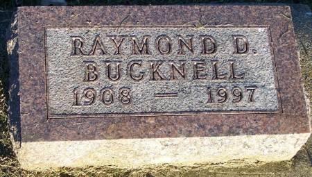 BUCKNELL, RAYMOND D - Winneshiek County, Iowa   RAYMOND D BUCKNELL