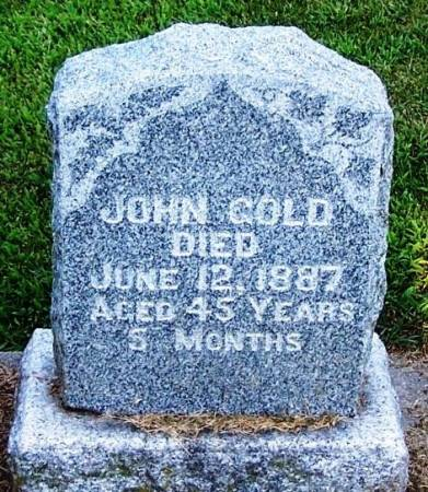 GOLD, JOHN - Winneshiek County, Iowa | JOHN GOLD