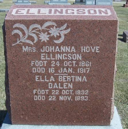 ELLINGSON, JOHANNA - Winneshiek County, Iowa | JOHANNA ELLINGSON