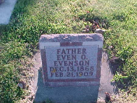 EVENSON, EVEN  O. - Winneshiek County, Iowa | EVEN  O. EVENSON