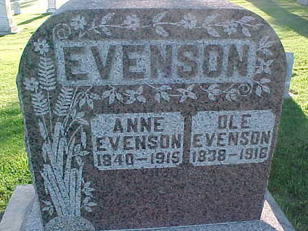 EVENSON, OLE - Winneshiek County, Iowa | OLE EVENSON