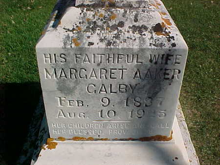AAKER GALBY, MARGARET - Winneshiek County, Iowa | MARGARET AAKER GALBY