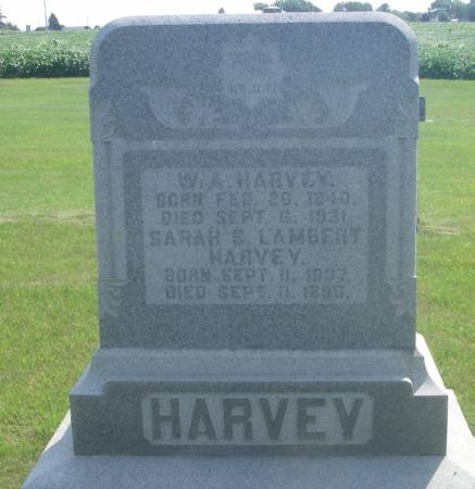 HARVEY, W. A. - Winneshiek County, Iowa | W. A. HARVEY