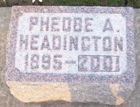 HEADINGTON, PHEOBE A - Winneshiek County, Iowa | PHEOBE A HEADINGTON