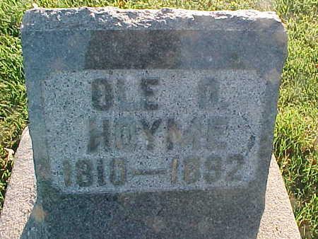 HOYME, OLE O. - Winneshiek County, Iowa   OLE O. HOYME