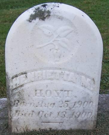 HOYT, HENRIETTA M. - Winneshiek County, Iowa | HENRIETTA M. HOYT