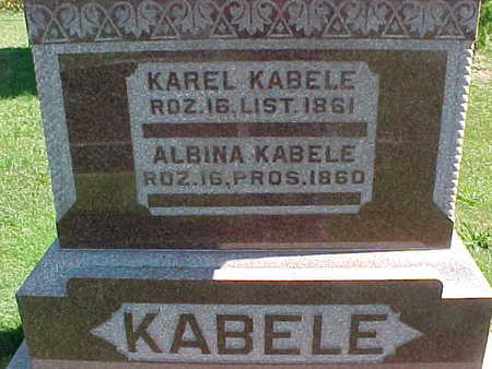 KABELE, KAREL - Winneshiek County, Iowa | KAREL KABELE