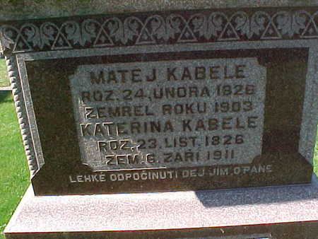 KABELE, MATEJ - Winneshiek County, Iowa | MATEJ KABELE