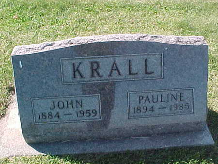 KRALL, PAULINE - Winneshiek County, Iowa | PAULINE KRALL