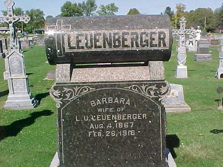 LEUENBERGER, BARBARA - Winneshiek County, Iowa | BARBARA LEUENBERGER