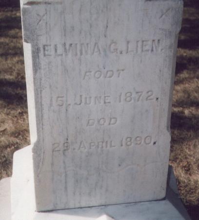 LIEN, ELVINA GULLIKSDATTER - Winneshiek County, Iowa | ELVINA GULLIKSDATTER LIEN