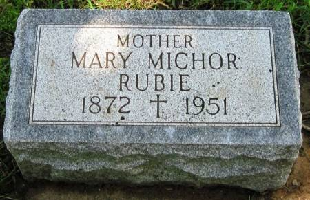 MICHOR RUBIE, MARY - Winneshiek County, Iowa | MARY MICHOR RUBIE