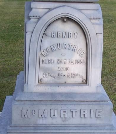 MCMURTRIE, HENRY - Winneshiek County, Iowa | HENRY MCMURTRIE