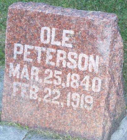 PETERSON, OLE - Winneshiek County, Iowa | OLE PETERSON