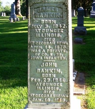 RANKIN, JOHN - Winneshiek County, Iowa | JOHN RANKIN