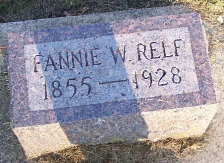 RELF, FANNIE W - Winneshiek County, Iowa | FANNIE W RELF