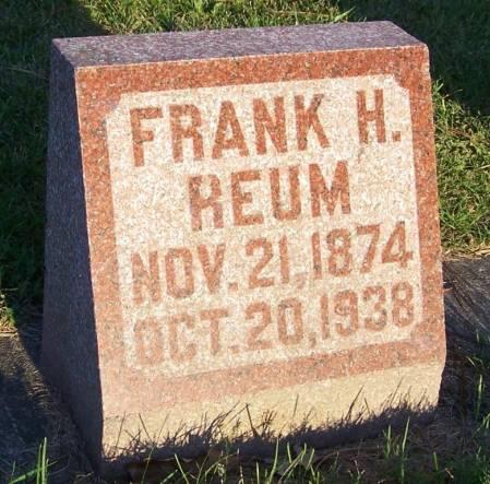 REUM, FRANK H - Winneshiek County, Iowa | FRANK H REUM