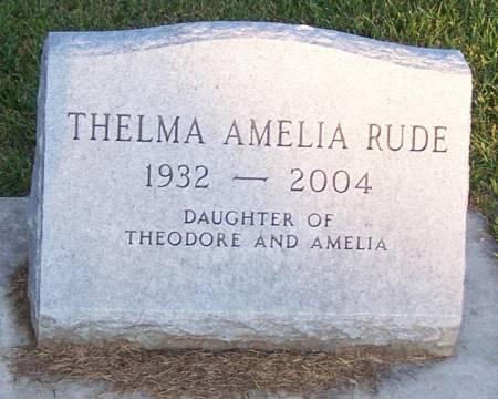 RUDE, THELMA AMELIA - Winneshiek County, Iowa | THELMA AMELIA RUDE
