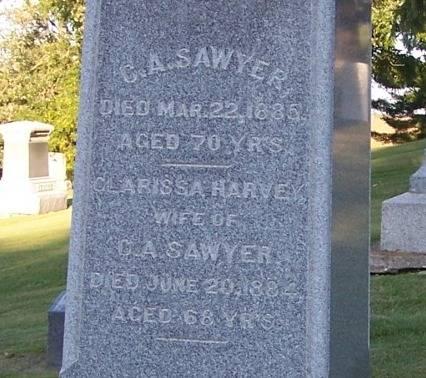 SAWYER, C. A. - Winneshiek County, Iowa | C. A. SAWYER