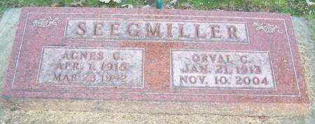 SEEGMILLER, ORVAL  C - Winneshiek County, Iowa | ORVAL  C SEEGMILLER