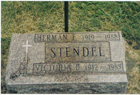 STENDEL, HERMAN FREDERICK - Winneshiek County, Iowa | HERMAN FREDERICK STENDEL