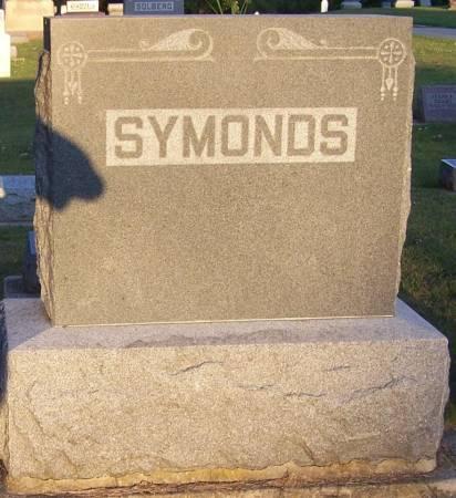 SYMONDS, W. T. FAMILY STONE - Winneshiek County, Iowa   W. T. FAMILY STONE SYMONDS