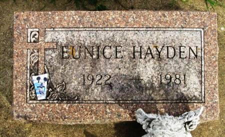 HAYDEN, EUNICE - Winneshiek County, Iowa | EUNICE HAYDEN