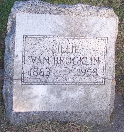 VAN BROCKLIN, LILLIE - Winneshiek County, Iowa | LILLIE VAN BROCKLIN