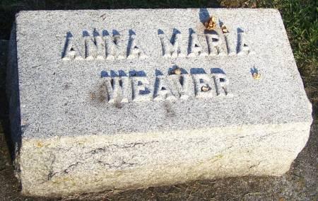 WEAVER, ANNA MARIA - Winneshiek County, Iowa | ANNA MARIA WEAVER