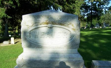 WEAVER, ANNA MARIA FAMILY STONE - Winneshiek County, Iowa | ANNA MARIA FAMILY STONE WEAVER