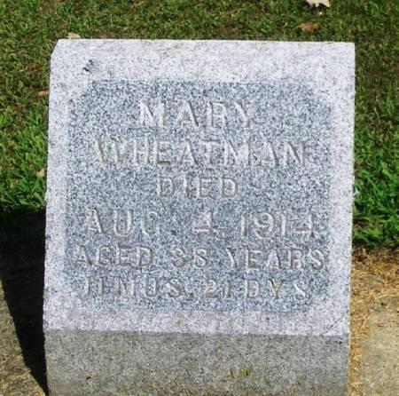 WHEATMAN, MARY - Winneshiek County, Iowa   MARY WHEATMAN