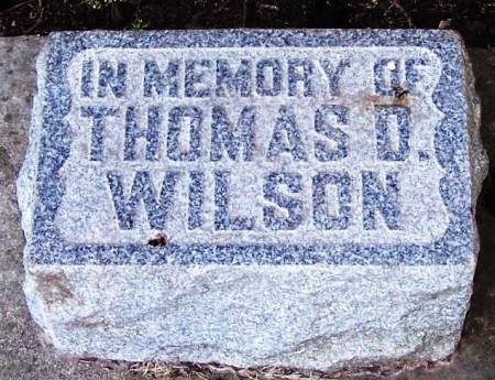 WILSON, THOMAS D - Winneshiek County, Iowa   THOMAS D WILSON
