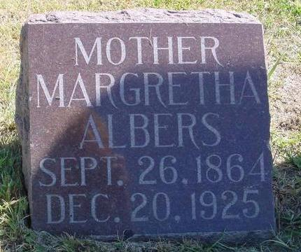 ALBERS, MARGRETHA - Woodbury County, Iowa | MARGRETHA ALBERS