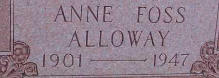 FOSS ALLOWAY, ANNE - Woodbury County, Iowa | ANNE FOSS ALLOWAY