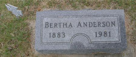 ANDERSON, BERTHA - Woodbury County, Iowa | BERTHA ANDERSON