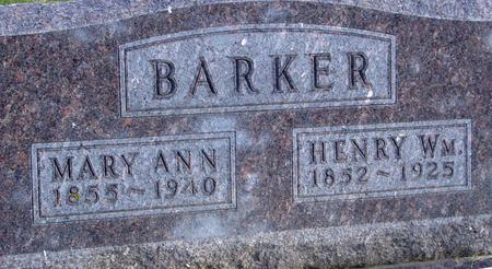 BARKER, HENRY & MARY - Woodbury County, Iowa | HENRY & MARY BARKER