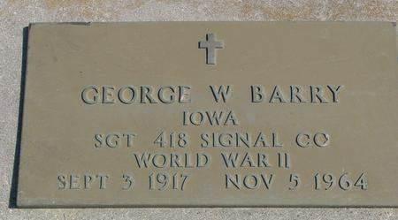 BARRY, GEORGE W. - Woodbury County, Iowa | GEORGE W. BARRY