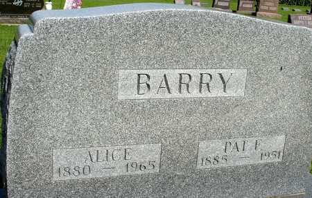 BARRY, PAT F. & ALICE - Woodbury County, Iowa | PAT F. & ALICE BARRY