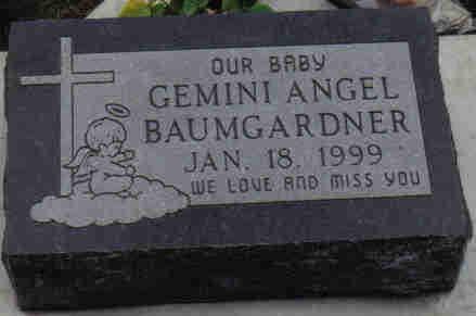 BAUMGARDNER, GEMINI  ANGEL - Woodbury County, Iowa   GEMINI  ANGEL BAUMGARDNER