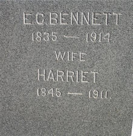 BENNETT, E. C.  & HARRIET - Woodbury County, Iowa | E. C.  & HARRIET BENNETT