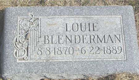 BLENDERMAN, LOUIE - Woodbury County, Iowa | LOUIE BLENDERMAN