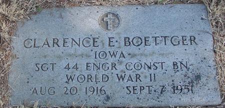 BOETTGER, CLARENCE E. - Woodbury County, Iowa | CLARENCE E. BOETTGER